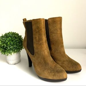 Michael Kors Distressed Leather Ankle Boot